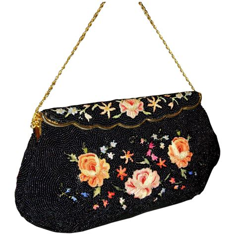 beaded bag vintage 1940 s bag by josef beaded bag from from