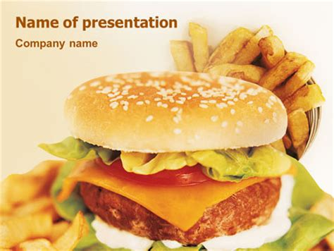 Fast Food Powerpoint Template Backgrounds 01741 Poweredtemplate Com Fast Food Ppt Slides