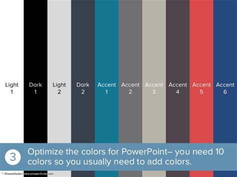 How to create a presentation color theme from a photo