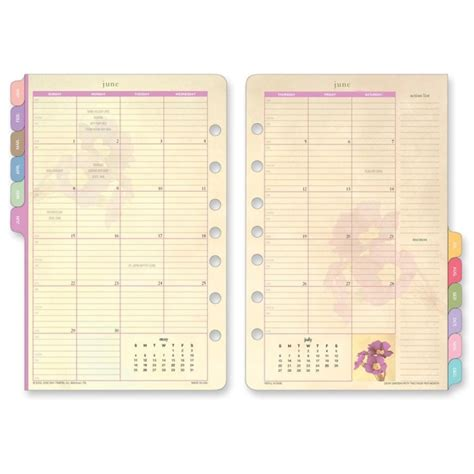 free printable monthly planner refills planner refills