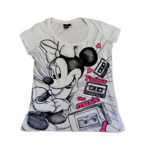 white minnie mouse t shirt blue 17 vintage fashion