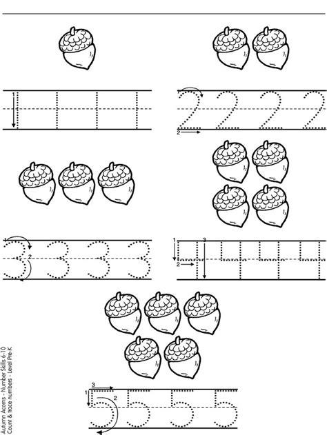 Vpk Worksheets by Acorn Numbers Jesie蜆