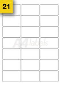Label Printing Template 21 Per Sheet 100 sheets a4 printer sticky labels 21 per sheet l7160 self adhesive stickers ebay