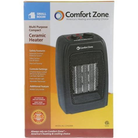 comfort zone heaters reviews comfort zone ceramic heater in black space heaters review