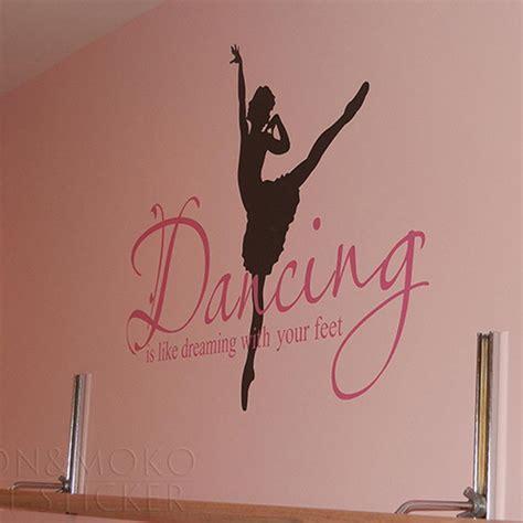 ballerina wall mural quotes ballet ballerina wall sticker dreaming