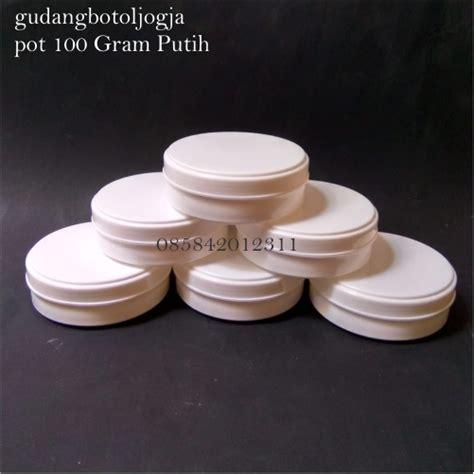 pot pomade lulur 100 gram ceper putih putih botol