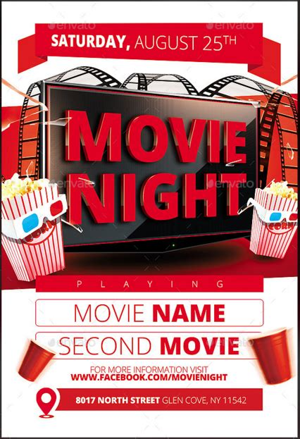 20 movie night flye templates design blog