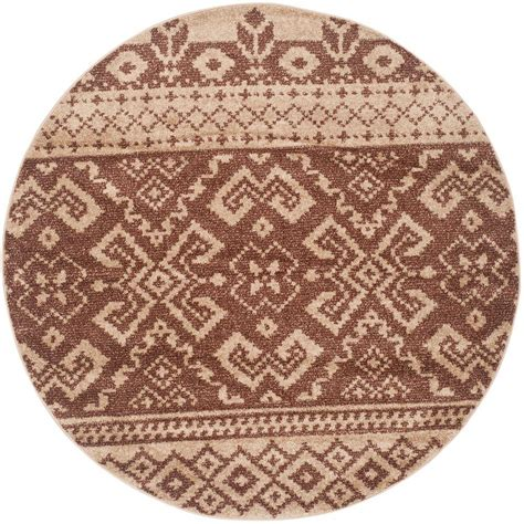 Safavieh Adirondack Camel Chocolate 6 Ft X 6 Ft Round 6 Ft Area Rugs