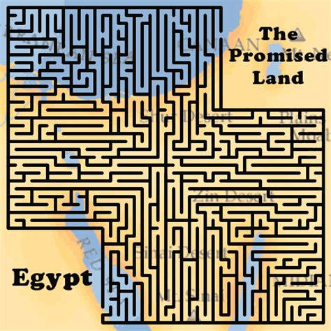 printable mazes christian lyrics chords and more 187 egypt to the promised land maze