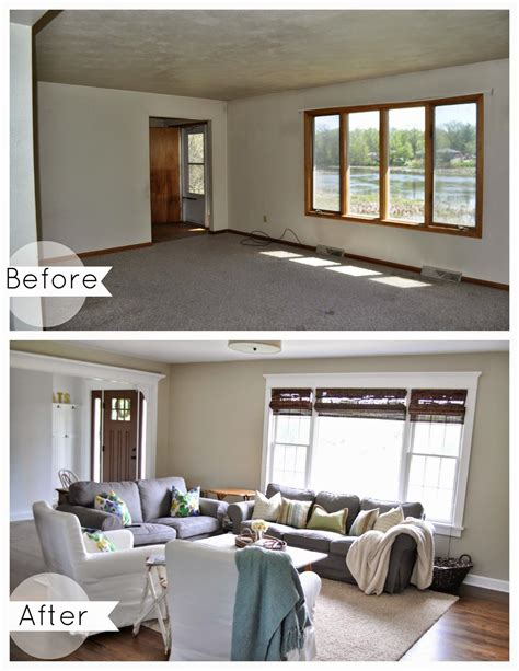 before painting a room living room before and after benjamin grant beige from the grant