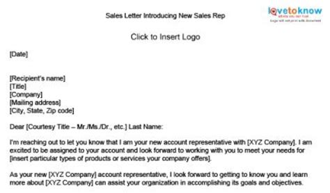 Introduction Letter Sle To Customer Free Sle Sales Letters