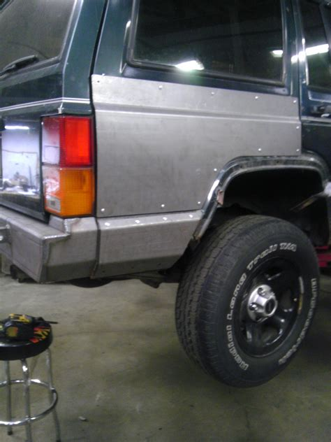jeep armor rear quarter panel armor xj ares fabrication