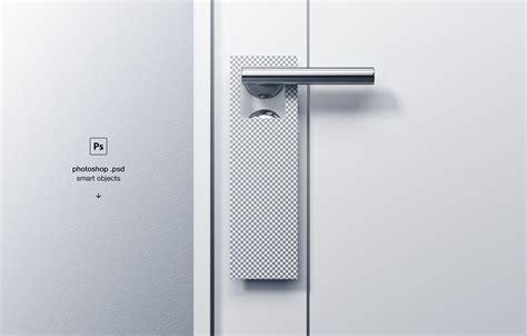 door hanger mockup  behance