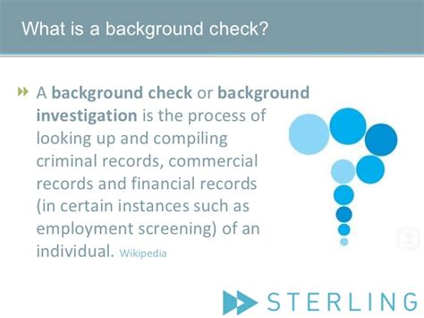 Sterling Employment Background Check What Is Background Screening