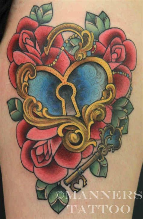 rose heart locket tattoo the key to my lock can you