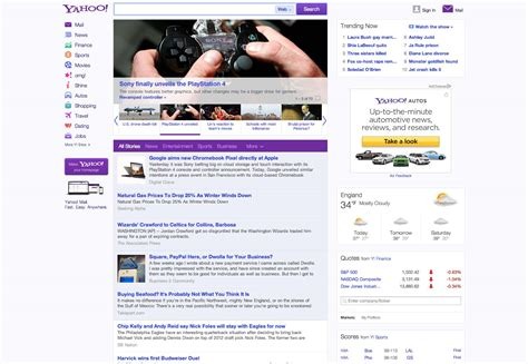 www yahoo search news homepage yahoo redesigns webdesigner depot