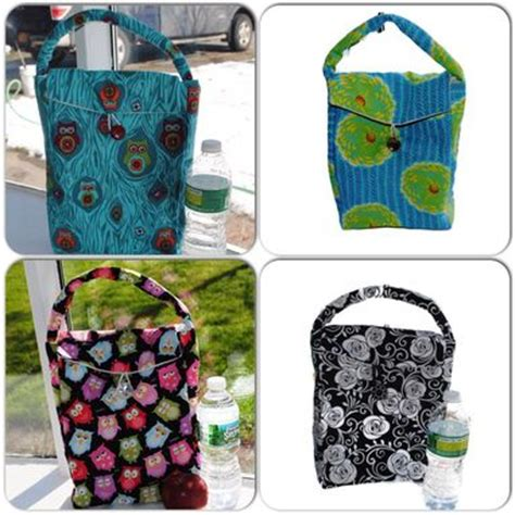 Handmade Lunch Bags - buy made handmade reusable insulated lunch bags made
