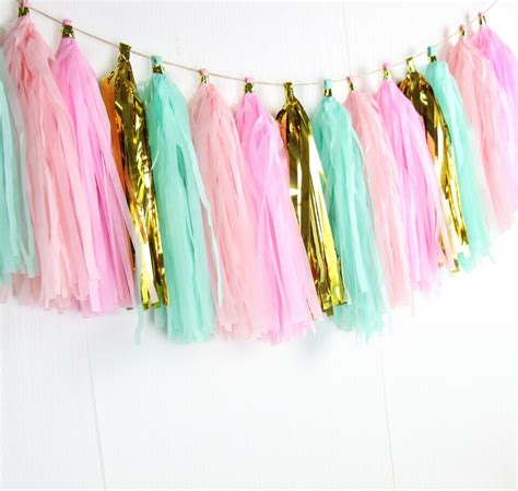 Paper Tassel Garland Blue No 7 5 Pcs Pack 16pcs sell 14inch metallic foil tissue paper