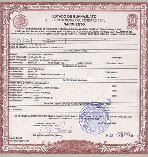 como obtener el certificado de convivencia para solicitar solicitar certificado de nacimiento por internet gratis