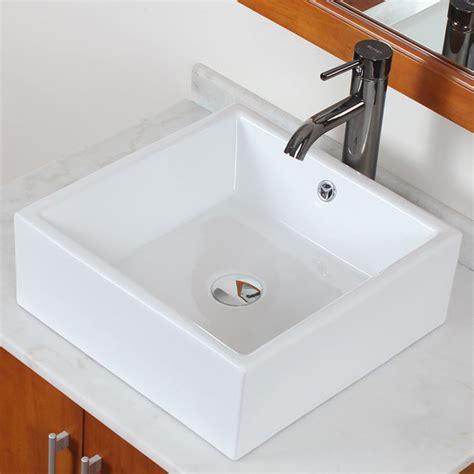 overstock bathroom sinks elite grade a ceramic white square bathroom vessel sink