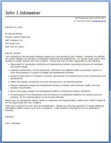 Utility Engineer Cover Letter by Cover Letter Aircraft Engineering