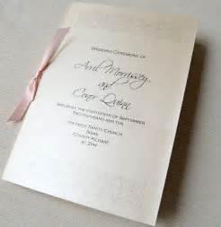 unique wedding invitations ceremony booklet