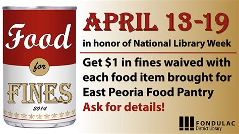 Peoria Food Pantries by Library Updates Fondulac District Library East Peoria Il