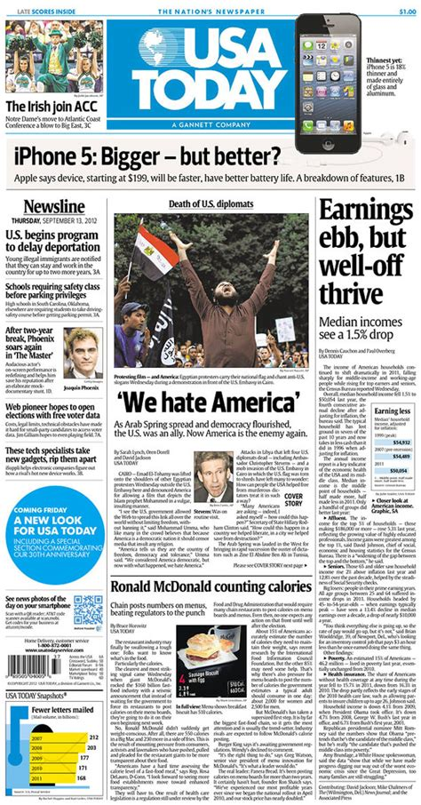 I Wanted To Write About The Usa Today Review Of Th by Newseum Todays Front Pages Gallery View 2015 Personal