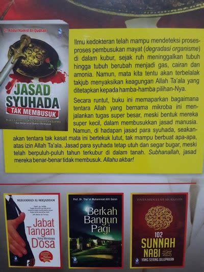 Buku Tata Busana Para Salaf Terdahulu buku jasad syuhada tak membusuk toko muslim title