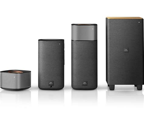 Philips Fidelio Css7235y Home Theater e5 wireless surround on demand speakers css7235y 12 fidelio