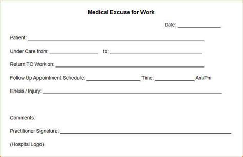 11  doctor excuses   academic resume template