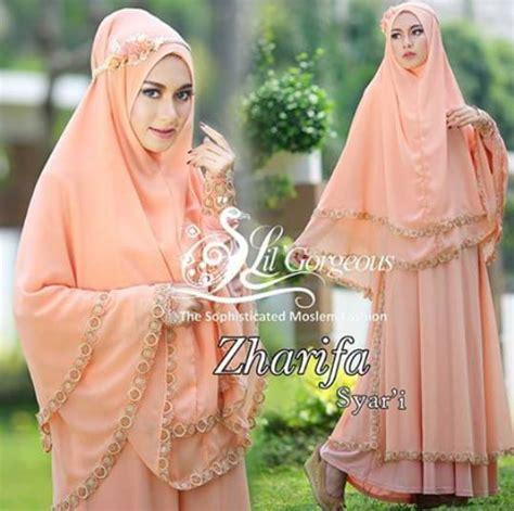 Zahra Khimar Pet Ukuran L zharifa baju muslim gamis modern