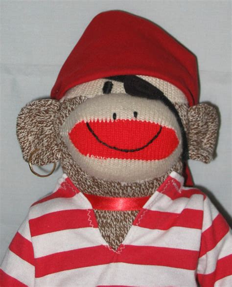 sock monkey clothes pirate clothes for sock monkey ahoy matey by auntyanndesigns