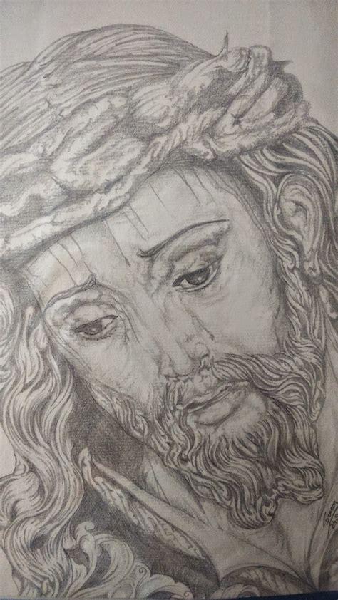 imagenes a lapiz del rostro de jesus dibujos a boligrafo s grueso