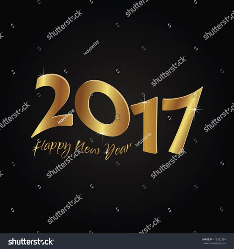 creative new year greeting cards happy new year 2017 creative greeting stock vector