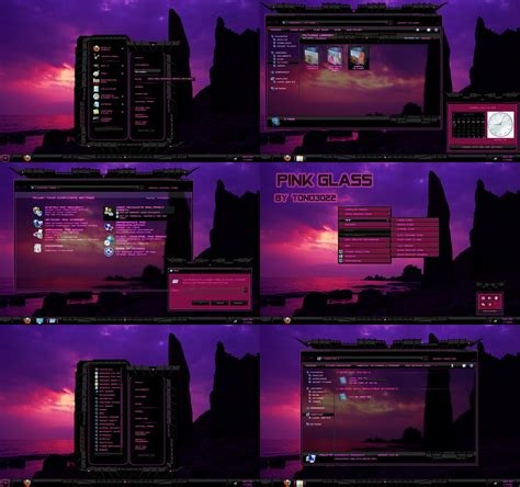 themes for windows 7 black glass windows 7 theme pink black glass by customizewin7 on