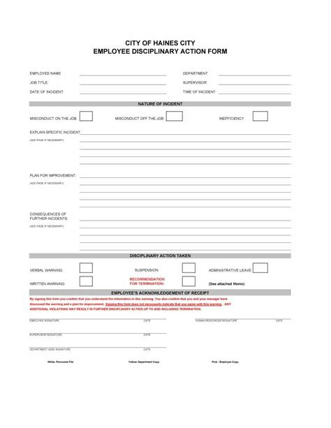 40 employee write up form templates word excel pdf