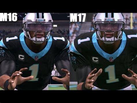 One Graphic 17 madden 17 vs madden 16 newton graphics comparison