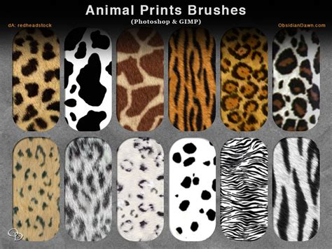 tiger pattern brush photoshop animal prints photoshop and gimp brushes by redheadstock