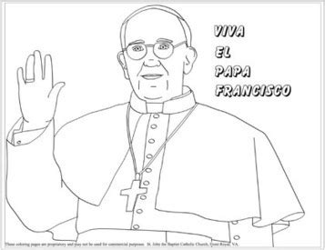 pope hat coloring page coloring pages of pope francis resources for