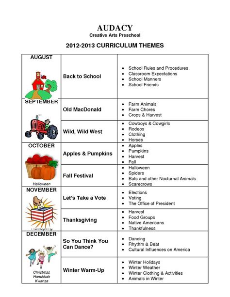 kindergarten themes by month preschool monthly theme ideas google search calendar