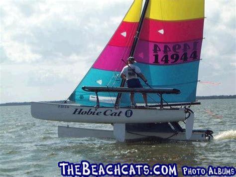 catamaran flying a hull pauls hobie 18m flying hull catamaran sailboats at