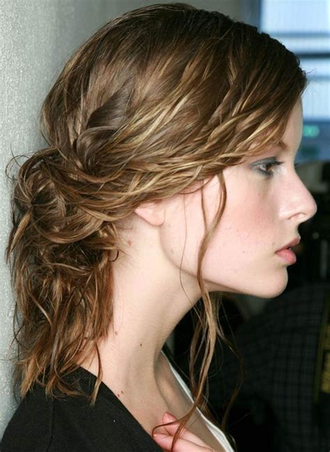 wet and messy hair look 10 wet hair styles for saving time while on the go brit co