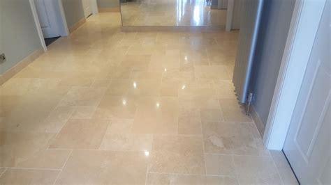 dirty travertine tiled floor cleaned  polished  ayrshire edinburgh tile doctoredinburgh