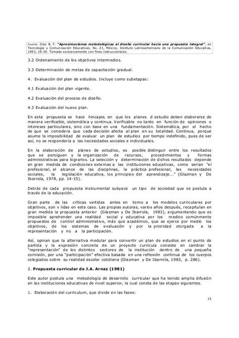 Modelo Curricular Frida Diaz Barriga Diaz Barriga F Aproximaciones Metodologicas Al Diseno Curricular