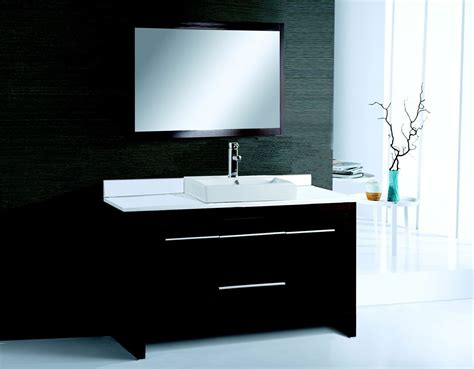 contemporary vanity bathroom alexa 48 inch modern bathroom vanity espresso finish
