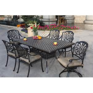 Metal Patio Dining Sets by Darlee Elisabeth 7 Piece Cast Aluminum Patio Dining Set