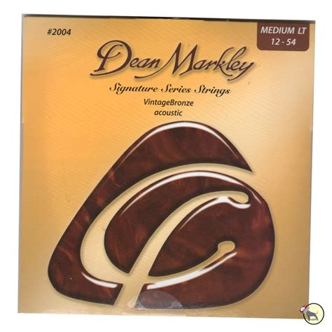 Dean Markley 2004 Medium Light Vintage Bronze Acoustic Acoustic Guitar Strings Light Vs Medium
