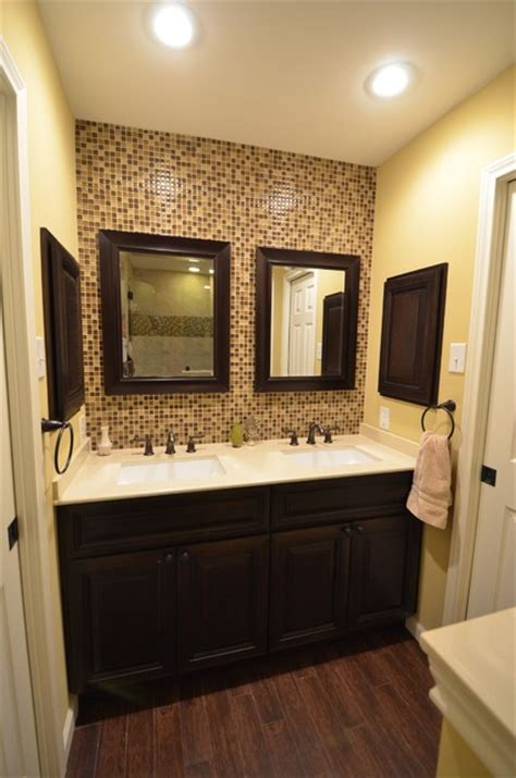 Bathroom Floor Tile Design by Oge Jack N Jill Bath Remodel Contemporary Bathroom