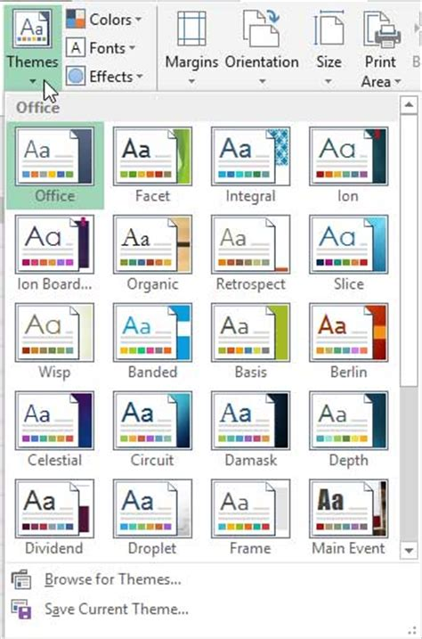 microsoft themes celestial applying themes in powerpoint word and excel 2013